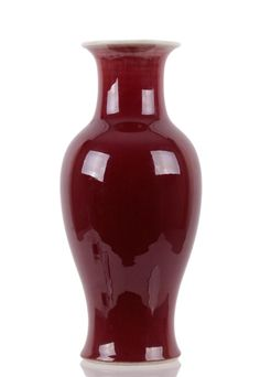 Chinese Red Porcelain Vase - by Antique Reader