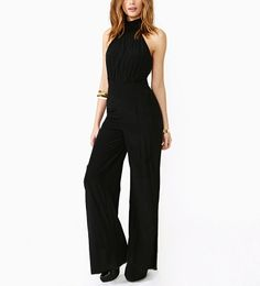 Backless Rompers and Jumpsuits | Halter Top Backless Sexy Jumpsuit @ Womens Short Shorts & Rompers ...