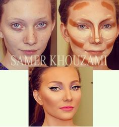 Contouring & Highlighting #beauty #makeup #board