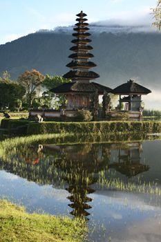 Bratan Temple at Lake Bratan in Bali