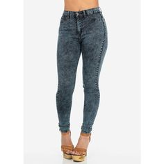 Fashion Jeans-Cute Skinny Jeans-Dark denim high waisted jeans (53 CAD) ❤ liked on Polyvore featuring jeans, pants, bottoms, denim, highwaist jeans, highwaisted jeans, high-waisted jeans, skinny leg jeans and high-waisted skinny jeans