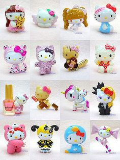 Hello Kitty Mini Mascots - Collaboration I like the third one in the first row the most :) Hello Kitty Gifts, Hello Kitty House, Hello Kitty Items, Hello Kitty Birthday, Sanrio Hello Kitty, Hello Kitty Characters, Sanrio Characters, Kawaii, Hello Kitty Imagenes