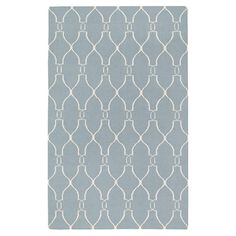 Add a pop of style to your living room or parlor with this hand-woven wool rug, showcasing an oversized lattice-inspired motif in gray.   ...