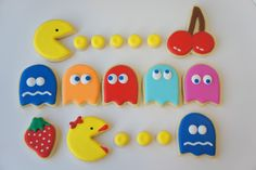 PAC Man Decorated Cookies