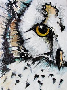 """""""Crown"""" by Nicole Gaitan - Owl Painting  www.NicoleGaitan.com"""