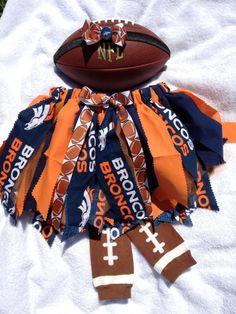 NFL Fabric Tutu - Denver Broncos. $25.00, via Etsy.