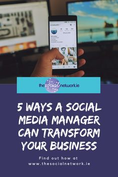 Did you know that social media and video viewing are the two most popular online activities? A social media manager would know that! Power Of Social Media, Social Media Tips, Social Networks, Social Media Branding, Pay Attention, 5 Ways, Accounting, Third, Ireland