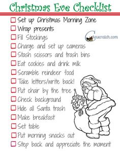 I need this! I'm always too tired to remember everything on Christmas Eve!