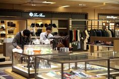 Custom Republic leather products merchandised at Boon The Shop at a mall in Gangnam.