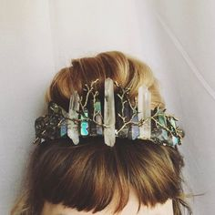 Crystal Crowns and Combs by whiskeynwine on Etsy