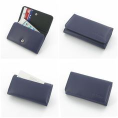 PDair Leather Wallet for Apple iPhone 4 4S (Purple)