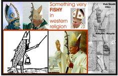 pope miter | THE POPE'S MITRE / DAGON FISH HAT | boxoff