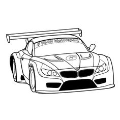 BMW Sportscar Coloring Page