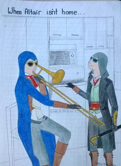 Assassins Creed When Altair isn't Home. Arno Dorian and Jacob Frye drawing