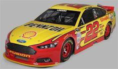 Joey Logano's 2013 NASCAR Sprint Cup Series #22 Paint Scheme