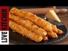 Μπαστούνια Γραβιέρας του Φούρνου!! Απλά θα τα Λατρέψετε!! Για το σχολείο, την Δουλειά σας! - YouTube Tea Loaf, Greek Recipes, Kitchen Living, Hot Dog Buns, Sausage, I Am Awesome, Food And Drink, Vegetables, Cooking
