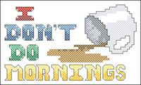 Free cross stitch patterns~ this would have been perfect for my Daddy!