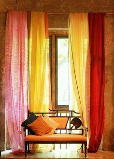 Anavila sarees displayed at Bungalow 8