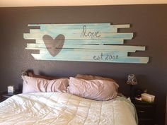 DIY wood board headboard