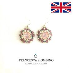 DIY ENG Pdf beading pattern of earrings Cecilia di PatFraBijoux
