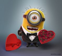 Minions Valentine's Day! Yes fellas the day is fast approaching. #Minions #ValentinesDay