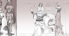 『TIGER & BUNNY』の 『ブルゾンちえみ』パロディ ブルゾンカリーナ with B のイラストがこちら。 カリーナ・ライル(ブルーローズ) 鏑木虎徹(ワイルドタイガー) バーナビー・ブルックス