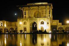 ali-qapu Palace in Iran at nigh