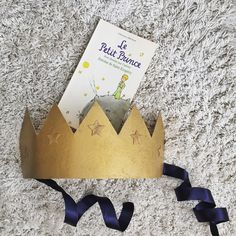 The Little Prince Birthday Party Crown, First Birthday, Le Petit Prince, Gold Crown