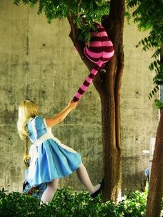 Alice and the Cheshire Cat...this could so be my youngest ;-)