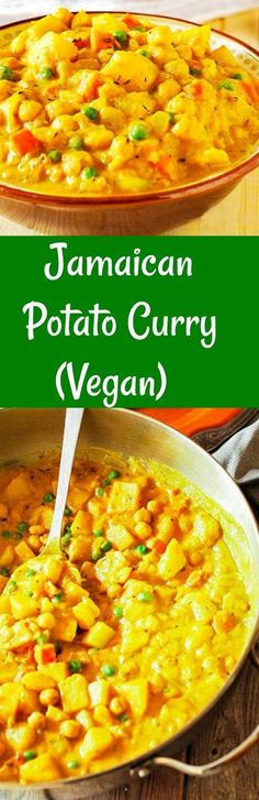 Jamaican Spicy Potato Curry (Vegan) So flavorful...