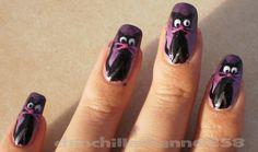 CookingChinchillas: Black cat nail design
