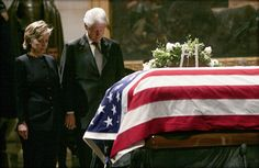 Hillary and Bill pay their respects to the late former President Gerald Ford in 2007. (Photo byJim Young / Reuters)  via @AOL_Lifestyle Read more: http://www.aol.com/article/2016/06/20/heres-why-voters-dont-like-donald-trump-and-hillary-clinton/21398108/?a_dgi=aolshare_pinterest#fullscreen