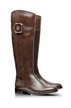 Classic riding boots by Tory Burch - 25% off with code: FRIENDS #itsbootseason http://www.revolvechic.com/