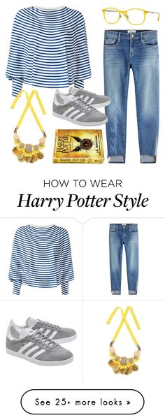 """""""#59 Harry Potter"""" by leila-image-style on Polyvore featuring Frame, MM6 Maison Margiela, ORTYS, adidas Originals and Ray-Ban"""