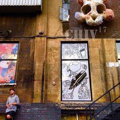 Finally got to put up a piece in one of my favourite places 😊#teddyskull #teddybearskullbones #teddybearskullbones #ted #bear #softtoy #bearskull #snowdonbear #chiv #chivalry #chivalryart #stevechivalry #art#artsy #artdrop #artistsoninstagram #trumanbrewery #oldtruemanbrewery #bricklane #bricklaneart #london #installationart #streetart #graduatefashionweek2017 #illustrated2017 #trumanbreweryevent