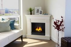 corner fireplace ideas (fireplace ideas) Tags: corner fireplace DIY, corner fireplace furniture arrangement, corner fireplace decorating, corner fireplace makeover fireplace ideas with tv Corner Fireplace Mantels, Corner Electric Fireplace, Small Fireplace, White Fireplace, Diy Fireplace, Living Room With Fireplace, Fireplace Surrounds, Fireplace Design, Modern Fireplace