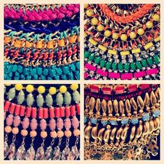 braided, neon and shiny statement collars #topshop #topshopoxfordcircus