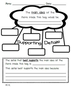 Main idea and details...nice activity to help get kids thinking