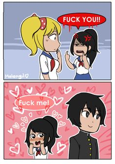 Hola Amigos!  (Yandere simulation in few words (I draw this from...)