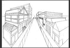 1 perspectiefs stad tekenen - Google zoeken