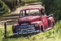 """Five Window Chevy"" - Original Fine Art for Sale - © Andy Sewell"