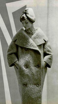 1958 Lanvin-Castillo. So elegant on the model. I would look like a giant burrito.