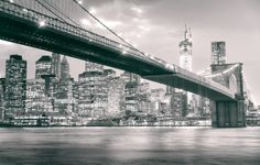 New York City - The Brooklyn Bridge and Manhattan Skyline  —-