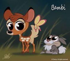 David Gilson: 50 Chibis Disney : Bambi