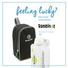 Giveaway Alert! 2 Lucky winners will win a BambinOz Bottle Warmer pack! Click the picture to find out how to enter.