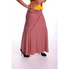 "38"" Long maxi skirt with foldable waist...."