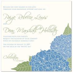 stunning hydrangea wedding invitations from The Green Kangaroo