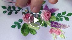 Stem Stitch Flower Rose Tutorial by Kayla of Knotty Dickens You can find this embroidery kit in my Etsy shop: www - Salvabrani Neck embroidery designs for salwar kameez, kurthis, tops. Easy hand embroidery stitches for salwar - Salvabrani Brazilian Embroidery Stitches, Hand Embroidery Videos, Hand Embroidery Flowers, Learn Embroidery, Hand Embroidery Stitches, Silk Ribbon Embroidery, Embroidery For Beginners, Crewel Embroidery, Hand Embroidery Designs