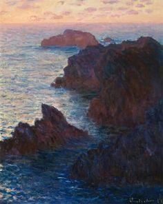 Claude Monet, Rocas en Belle-Île, Port-Domois, 1886.