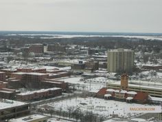 Springfield Illinois City from Hilton Hotel in Winter